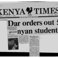 Dar orders out 5 Kenyan students