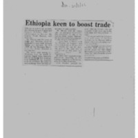 Ethiopia keen to boost trade