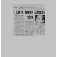 Kenya returns Ethiopian relics