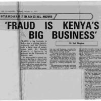 'Fraud is Kenya's big business'
