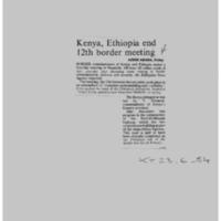 Kenya, Ethiopia end 12th border meeting