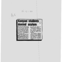 Kenyan students denied asylum