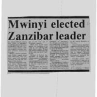 Mwinyi elected Zanzibar leader
