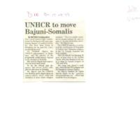 UNHCR to move Bajuni-Somalis