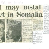 UN may instal govt in Somalia