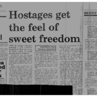Hostages get the feel of sweet freedom