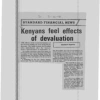 Kenyans feel effects of devaluation