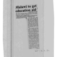 Malawi to get education aid