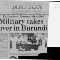 Military takes over in Burundi