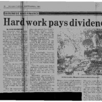 Hard work pays dividend